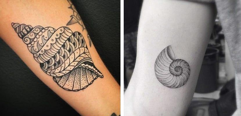 Caracolas en tatuajes