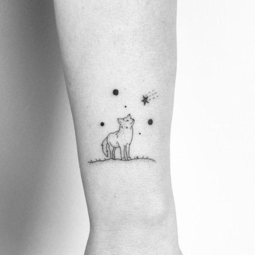 Tatuajes de Bosques con Lobos sencillo