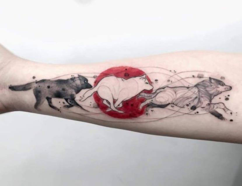 Tatuajes de Lobo Corriendo