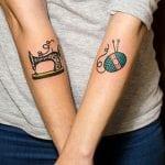 Tatuajes de ovillos de lana
