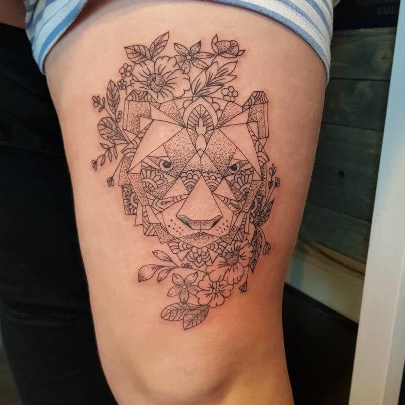 Tatuajes de Tigres en la Pierna muslo