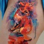 Tatuajes de zorros en acuarela