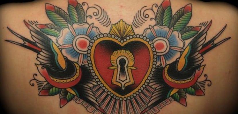 Tatuaje con cerradura