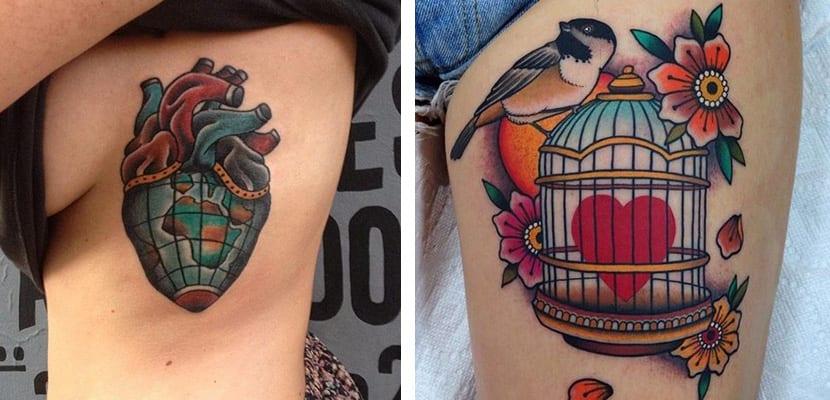 Tatuajes originales de corazones