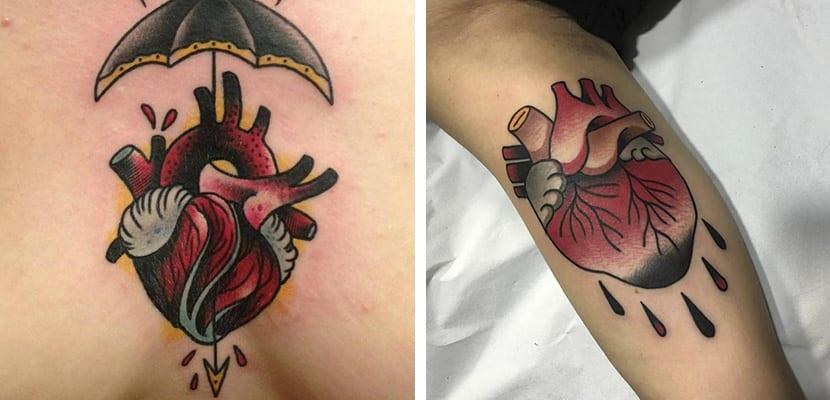 Tatuajes de corazones heridos