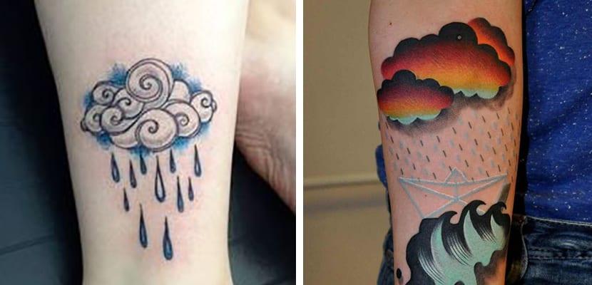 Tatuaje de nubes