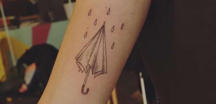 Tatuaje de lluvia