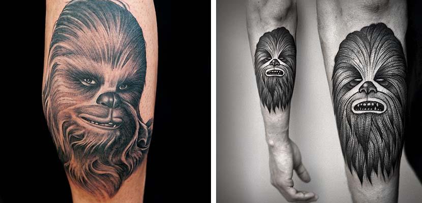 tatuaje de Chewbacca