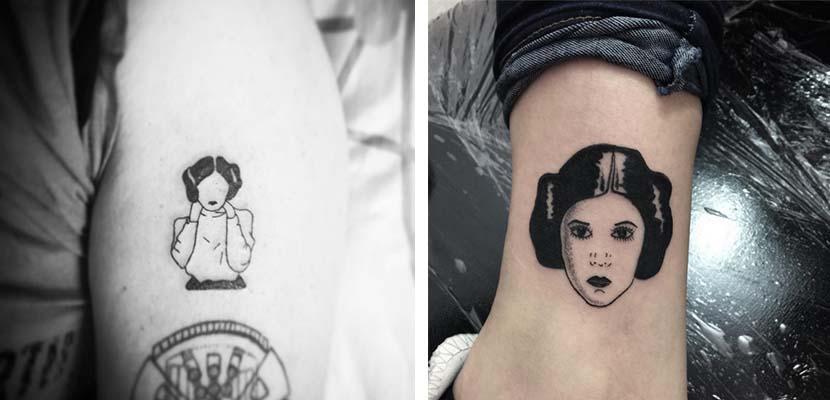 Tatuaje de Leia