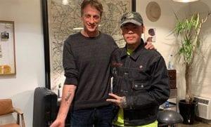 Tatuaje de Tony Hawk