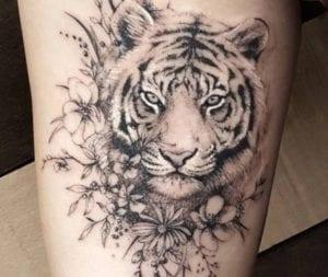Tatuajes de animales y flores