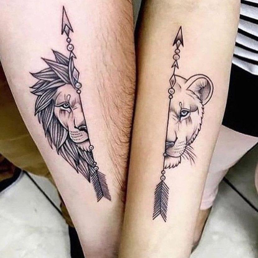 Tatuajes de leonas brazos