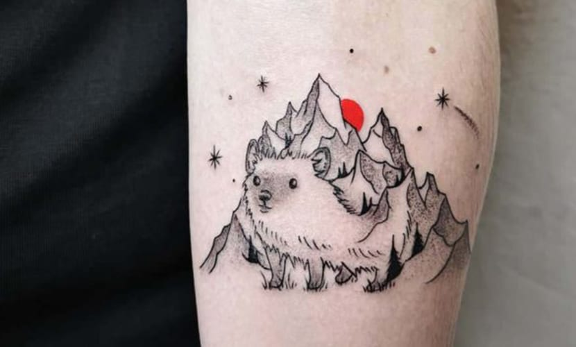 Tatuajes originales de erizos
