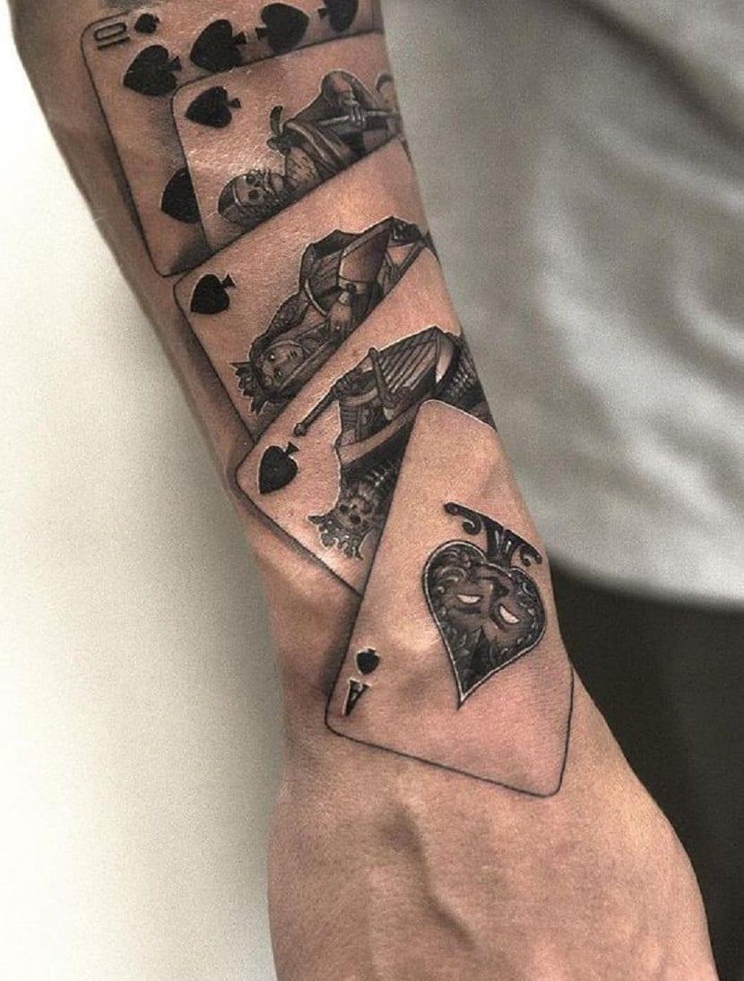 Significado de tatuajes de cartas de póker