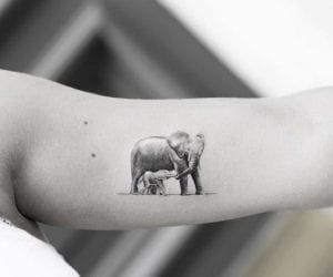 Tatuaje elefante madre