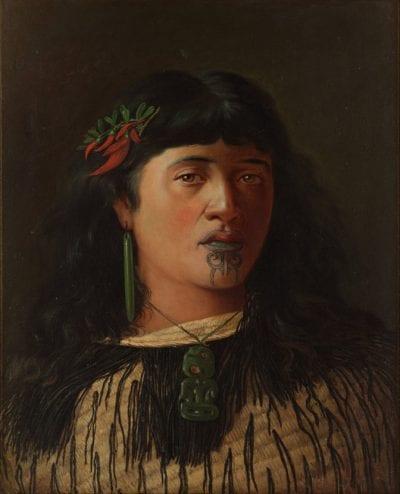 Tatuaje maorí barbilla