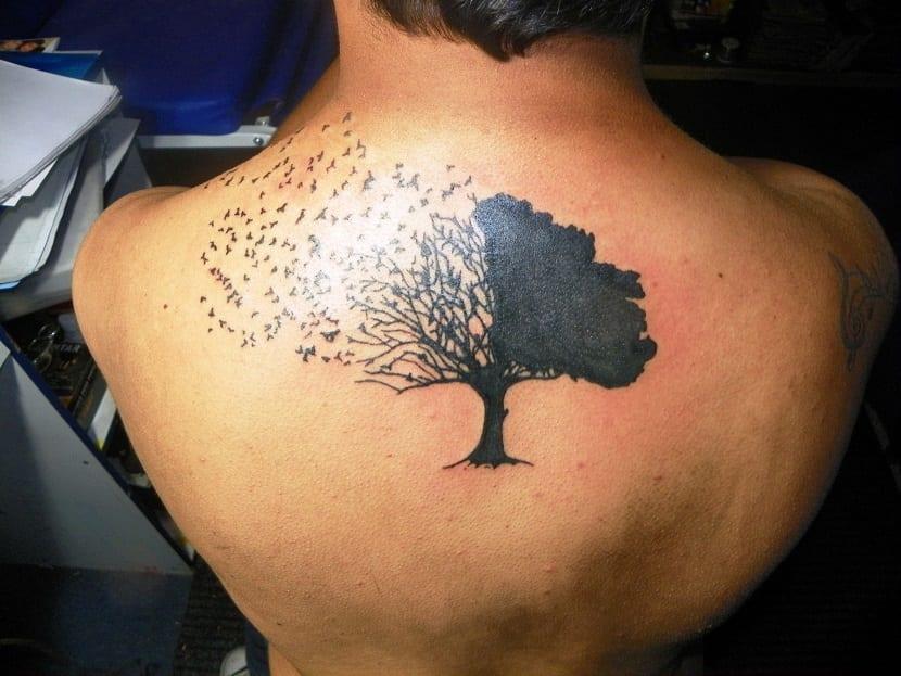 tatuaje roble