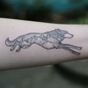 Tatuajes de lobos solitarios