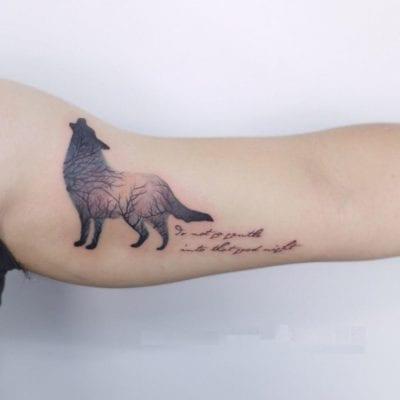 Tatuajes de lobos solitarios letras