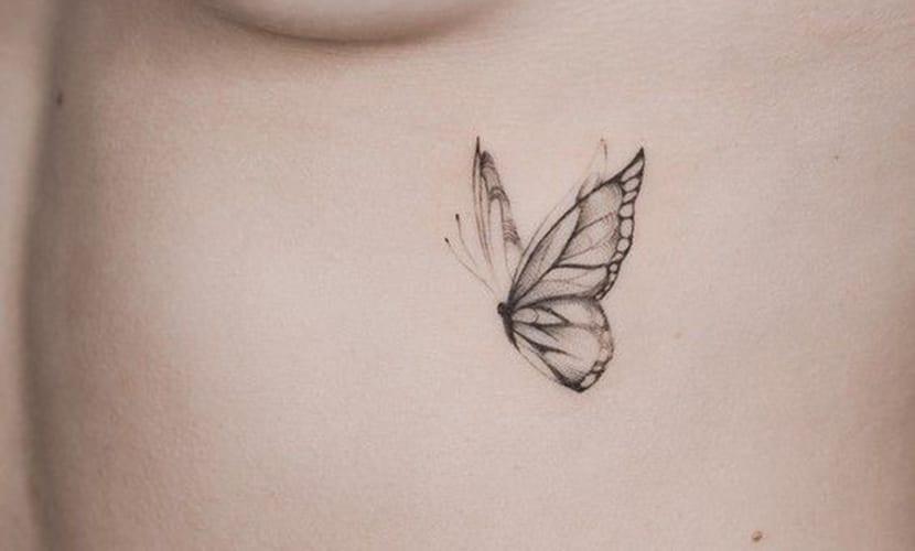 Tatuajes elegantes de mariposas