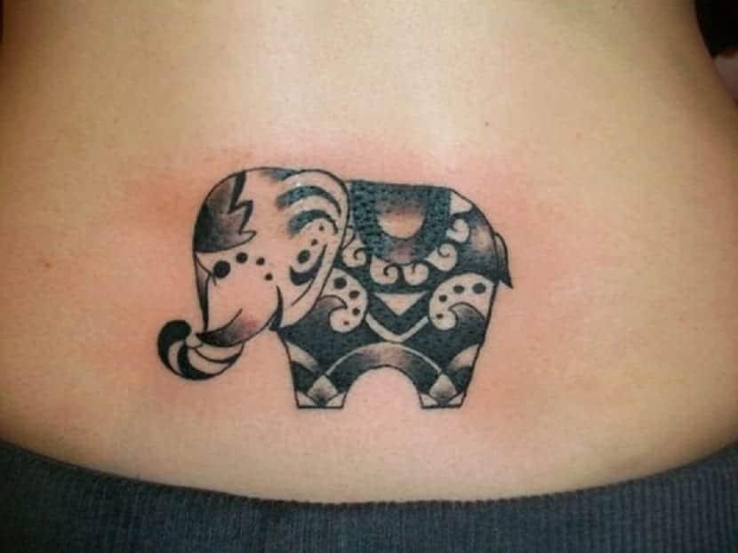 Tatuaje elefante de la suerte