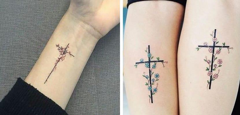Cruces con flores