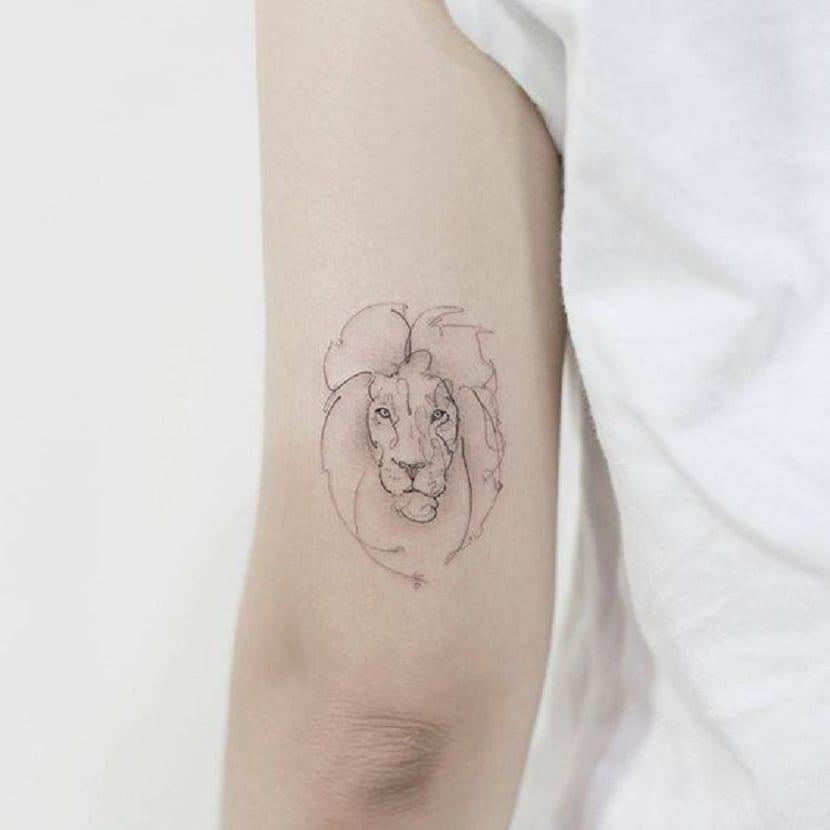 tatuajes de leones pequeños
