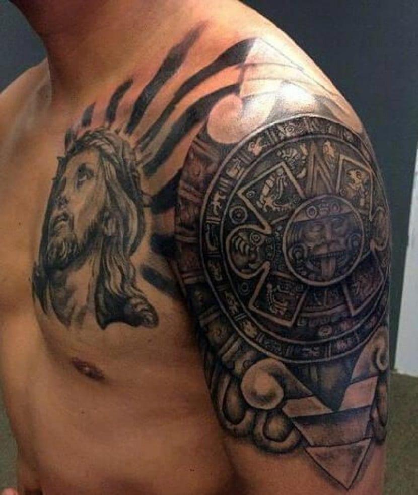 tatuaje circulo maya