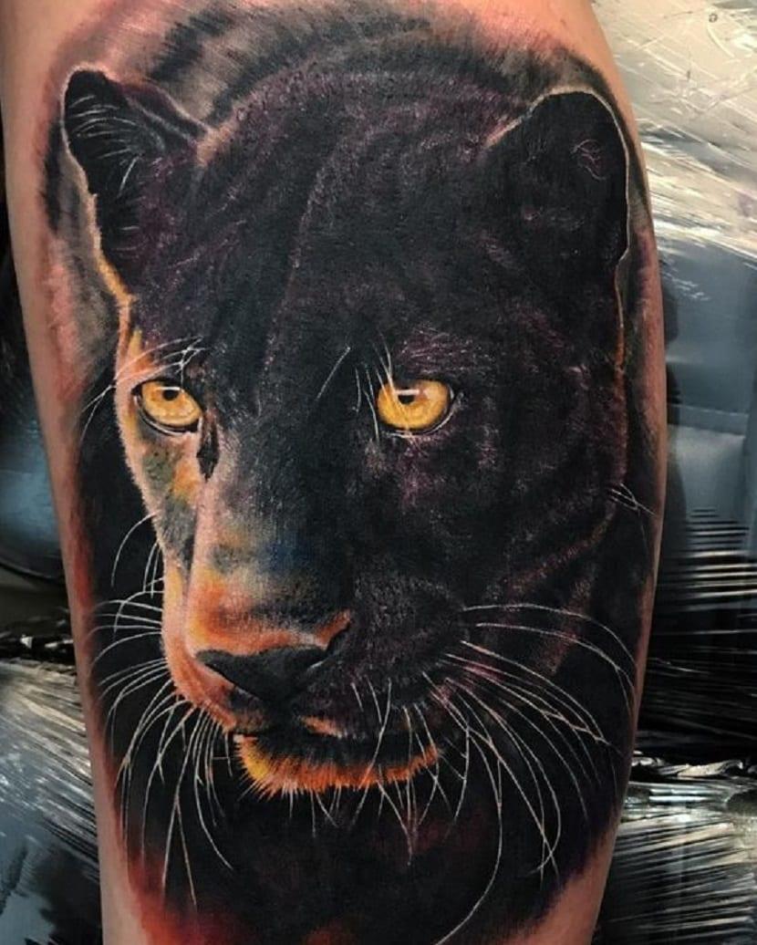 tatuaje pantera realista