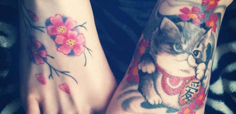 Tatuaje de colores