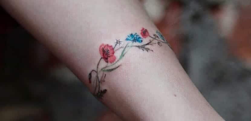 Brazaletes de flores