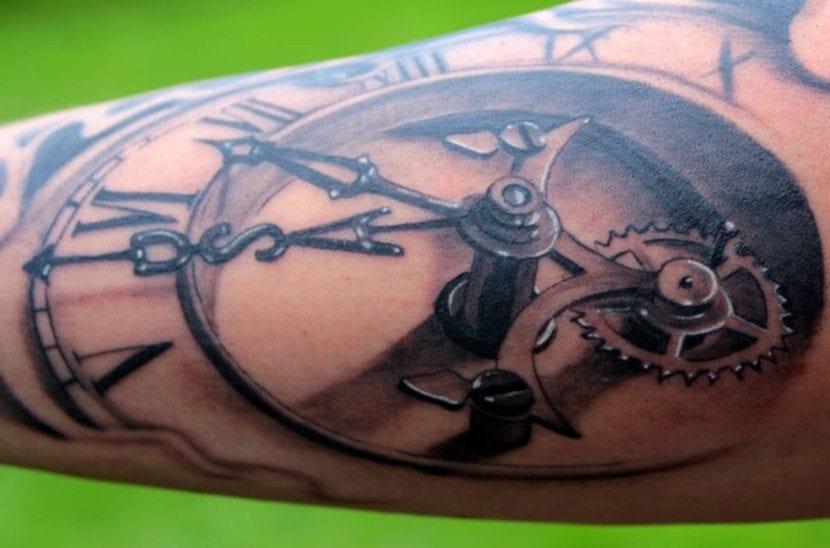Tatuajes con Círculos reloj
