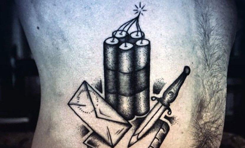 Tatuajes de dinamita