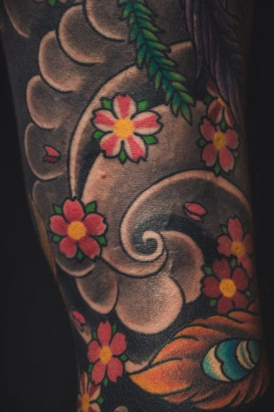 Tatuajes de Sakura brazo