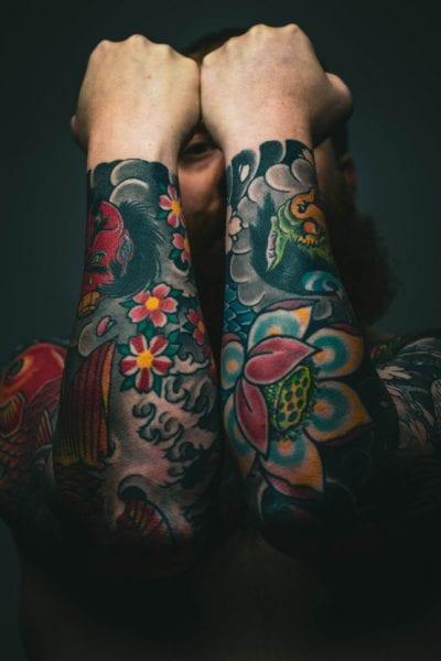 Tatuajes Japoneses en el Brazo dos