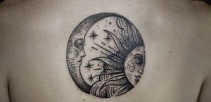 Tataujes de sol y luna