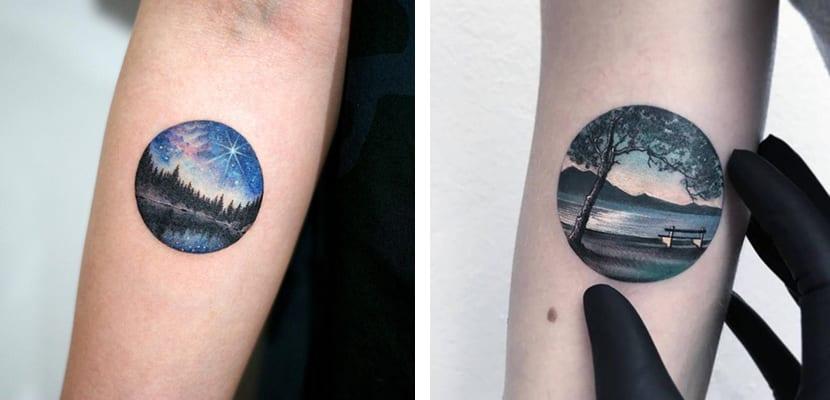 Tatuajes con paisajes
