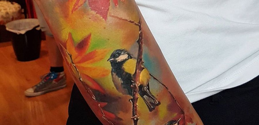 Tatuaje de pájaros