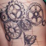 Tatuajes de engranajes