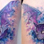 Tatuajes de murciélagos a color
