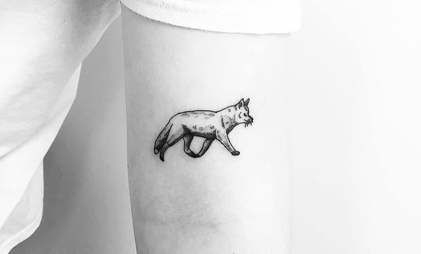 Tatuajes pequeños de zorros