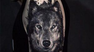 Tatuajes de lobos realistas