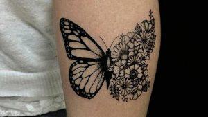 Tatuajes de mariposas en el brazo