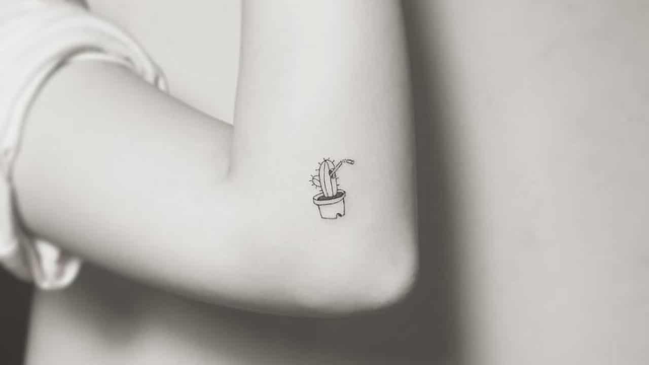 Tatuajes pequeños de cactus