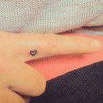 Tatuajes pequeños de corazones