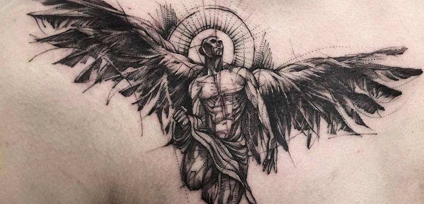 Tatuaje de ángel
