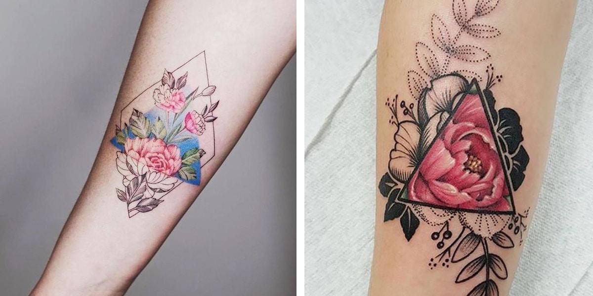 Triángulos y flores
