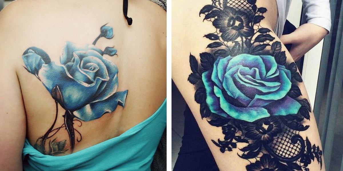 Flores azules grandes