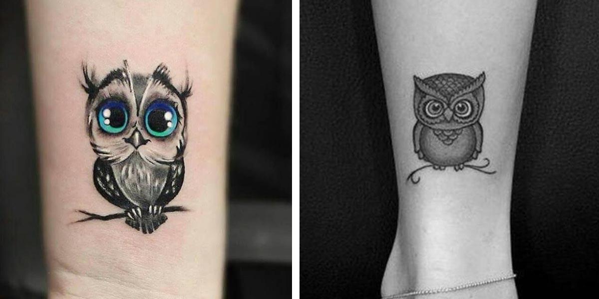 Tatuajes pequeños de búhos