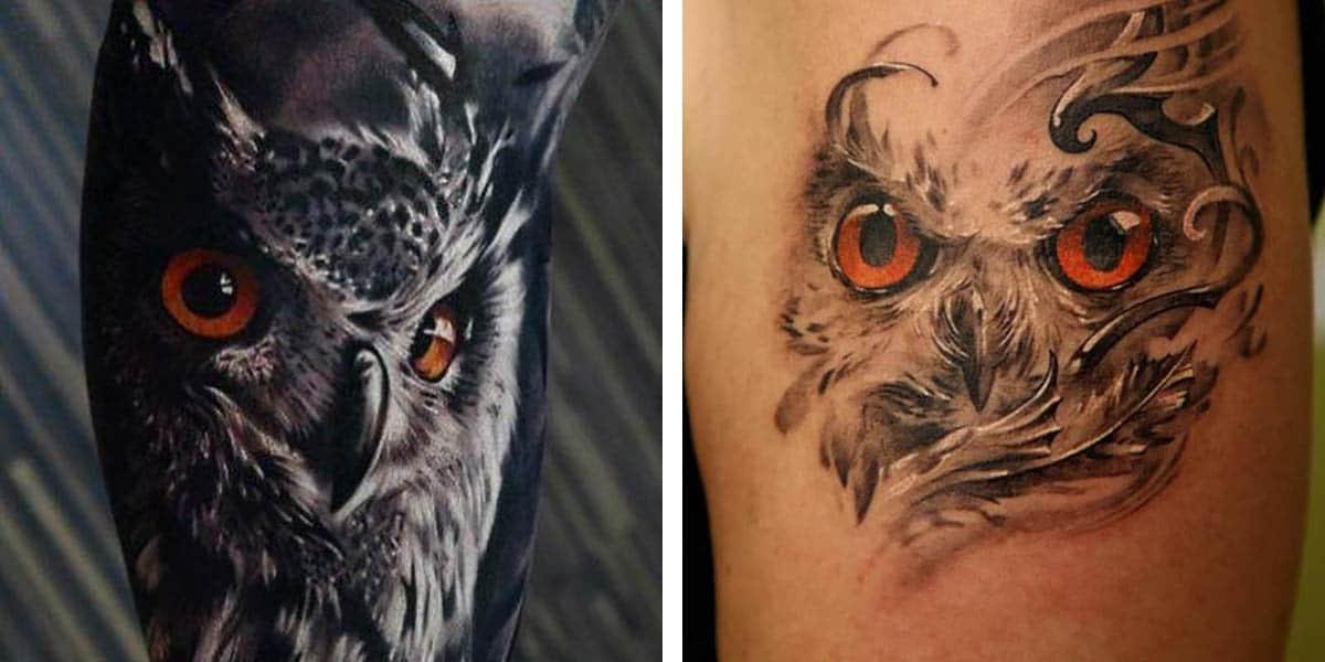 Tatuajes de búhos realistas